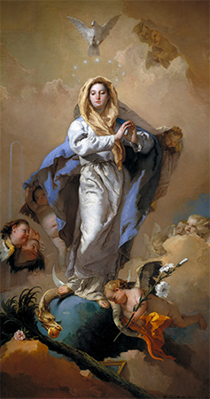The Immaculate Conception by Giovanni Battista Tiepolo, 1767-1769.
